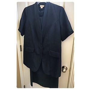 Roamans two piece suit dress, black size 14